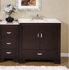 wooden single sink bathroom vanity