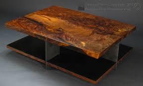 custom made claro walnut coffee table with steel base