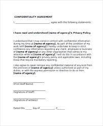 confidentiality agreement template sample confidentiality agreement form 8 documents in pdf word