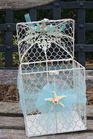 beach themed wedding card money box by shabbychicboxes on etsy Wedding Card Box Ideas Beach Theme beach themed wedding card box bird cage card box by jcbees on etsy? wedding card box beach theme