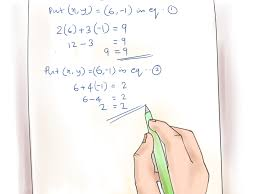 4 ways to solve systems of equations wikihow ideas of how to do algebraic equations with