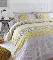 gray and yellow duvet set