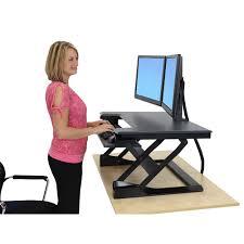 desks to stand at ergonomic standing sit workstations 17