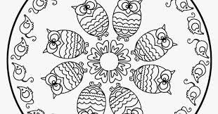 Mandalas Kleurplaten Mandala Kinderen Uilen