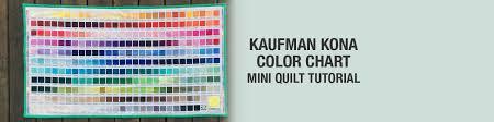 Shop Amazon Com Kaufman Kona Color Chart Mini Quilt Tutorial