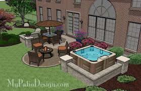 patio designs with fire pit and hot tub. Hot Tub Patio. $9,920 Patio Designs With Fire Pit And