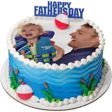 Father S Day Cake Design Photocake Fathers Day Round Cake Design Decopac