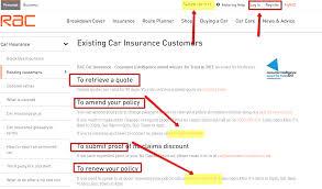 rac car insurance claim telephone number 44billionlater