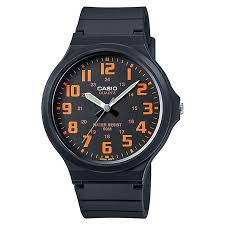 casio watches edifice g shock solar digital h samuel casio men s black orange dial black resin strap watch product number 4575431