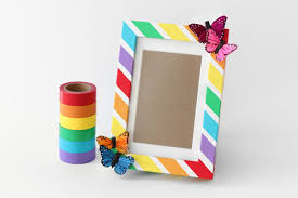 with just a few simple supplies this extremely easy diy picture frame craft is the perfect colorful project for any age