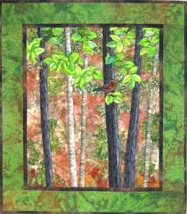 Cathy Geier's Quilty Art Blog: Landscape Quilting with ... & Landscape Quilting with 'Challenging' Fabrics Adamdwight.com
