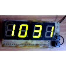 digital clock switched on