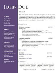 resume word sample professional resume template microsoft word a ...