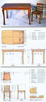 wood furniture blueprints. Dining Table And Chairs Plans - Furniture Projects   WoodArchivist.com Wood Blueprints