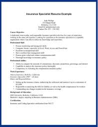 Insurance Resume Objective Examples Insurance Resume Objective Examples Of Resumes Health Broker Sample 5