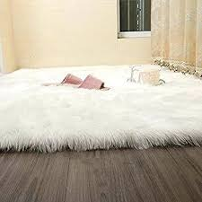 white faux fur rug sheepskin rugs contemporary soft fluffy gy in