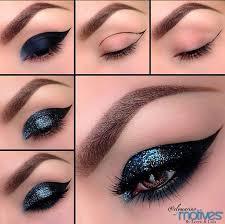 35 glitter eye makeup tutorials glittery cat eyes makeup tutorial step by step diy