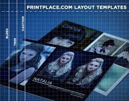 Comp Cards Templates Free Download Printplace Com