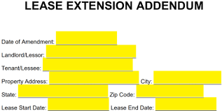 Free Lease Extension Addendum Template Residential