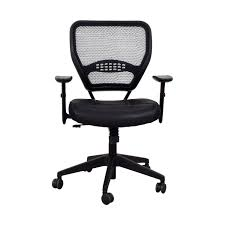 office star chairs. office star black eco leather seat and air grid back chair home chairs