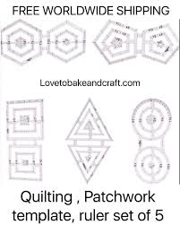 Rulers, Quilting ruler Patchwork ruler Quilting template Patchwork ... & Rulers, Quilting ruler Patchwork ruler Quilting template Patchwork template  Double Patchwork circle Double Patchwork hexagon Adamdwight.com