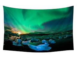 iceland northern lights sky ice nature wall tapestry art for home decor wall hanging tapestry