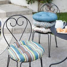 Outdoor Patio Chair Cushions Clearance Round Shape Tufted Design