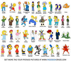 yatyalan simpson characters pictures and names cartoons i love simpsons characters characters and cartoon