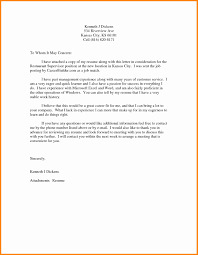 Cover Letter Examples For Supervisor Position Unique English Letter