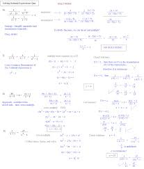 solving rational expressions quiz page 2 solutions solving rational equations