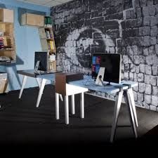 home office simple neat. Simple And Neat Office Interior Design Ideas : Charming Using Black Textured Carpet Wall Home D