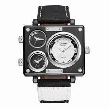F Designer Brand Sailcloth Belt Watch Made In China Fashion Three Time Watch Designer Man Watch Oulm Brand Quartz Watch Hp3595 Mens Watch
