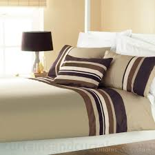 striped print duvet cover yale chocolate brown striped duvet quilt cover bedding uk