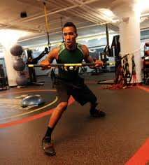 exercise of the week trx rip trainer lateral shuffle with power chop