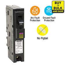 shop circuit breakers load centers fuses at lowes com square d homeline 20 amp 1 pole dual function afci gfci circuit breaker