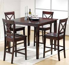 casual dining room with cobalt 5 piece pub dining table set x back dining chairs