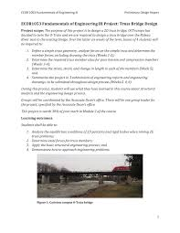 Fundamentals Of Bridge Design Ecor1053 Project Submission 1 Ecor 1054 Carleton Studocu