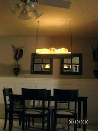 off center dining room light chandelier large image for leopard shade winsome fixture over