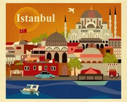 turkey home office. Istanbul, Turkey Skyline - European Destination Travel Wall Art Print For  Home, Office, And Nursery Style E8-O-IST Turkey Home Office