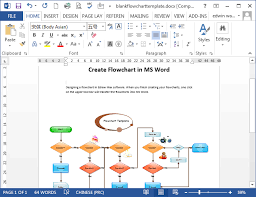 Microsoft Word Flow Charts Flowcharts In Word