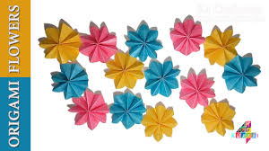 diwali easy paper decor diy diy simple origami paper flowers easy wall home decor on diy