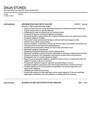 Best Ideas of Information Security Analyst Resume Sample Also Resume Sample