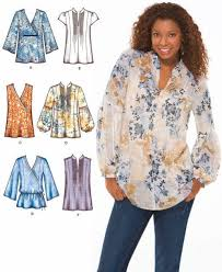 Tunic Top Patterns Inspiration Plus Size TUNIC TOP Sewing Pattern Peasant Boho Tops Sizes 4848