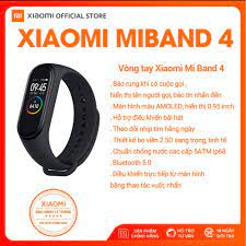 Miband 4 - Xiaomi Miband 4 - Vòng Tay Thông Minh Xiaomi Mi Band 4 (Global  Version) - Hàng Chính hãng - Bảo hành 12 tháng