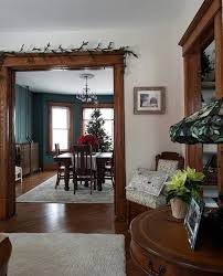 living room with dark wood trim cool