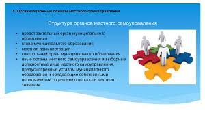 Конституционные основы местного самоуправления в Российской  представительный орган муниципального образования • глава муниципального образования • местная администрация • контрольный орган муниципального образования