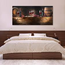 wine barrels multi panel canvas wall art elephantstock for barrel decor 8