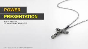 Silver Christian Cross Powerpoint Templates
