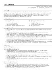 Operations Management Resume Resume For Your Job Application