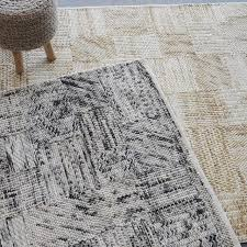 abstract geometric black white gray area rug 9 x12 felted wool contemporary area rugs by my sy home
